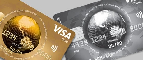 Visa World Card Gold en Platinum